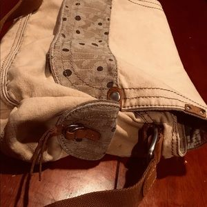 Vintage Fossil large canvas crossover knapsack!